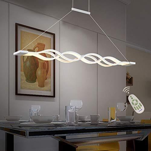 60W LED Lámpara colgante Regulable Mesa de comedor Lámpara de ...