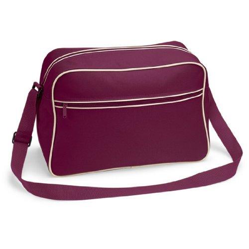 Shirtstown Retro Shoulder Bag, Umhängetasche, Schultertasche, Retro, Tasche burgundysand