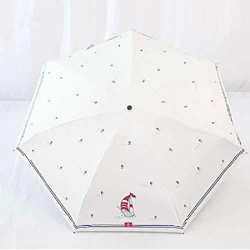 Ruidi Der Regenschirm Ist Manuell, 5-Fach Schwarz, UV-Licht, Klarer Regenschirm. 52 * 7K/Myweiß. -