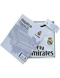 2b06a8ff1e354 Personalizador Kit Infantil Real Madrid Réplica Oficial Licenciado de la  Primera Equipación Temporada 2018-19