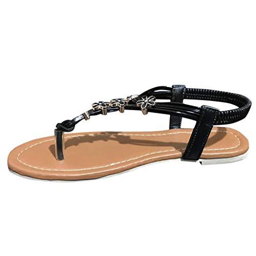 VECDY Damen Sandalen Herren Schuhe Open Toe Thong Sandalen Sommer Flip Flop Knöchelriemen Flache Freizeitschuhe Hausschuhe 35-43 -