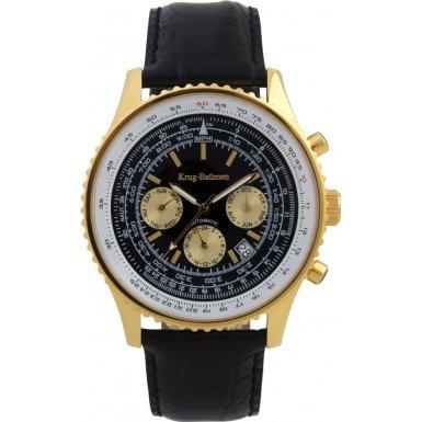 krug-baumen-600206-km-pour-homme-air-traveller-bracelet-cuir-noir-watch