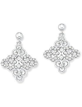 s.Oliver Damen-Ohrhänger Blumen 925 Silber rhodiniert Zirkonia weiß - 523387