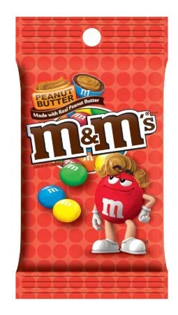 Chocolate and peanut butter M&Ms