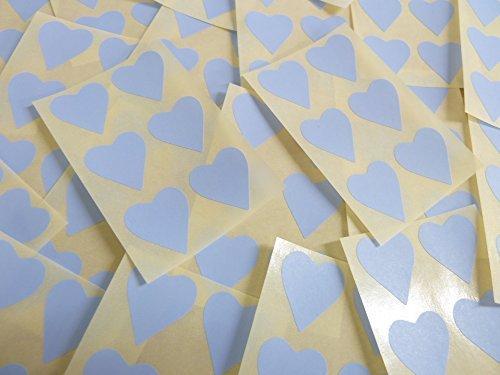 22x20mm Pálido Azul Cielo Con Forma De Corazón Etiquetas, 90 auta-Adhesivo Código De Color Adhesivos, adhesivo Corazones para Manualidades y Decoración
