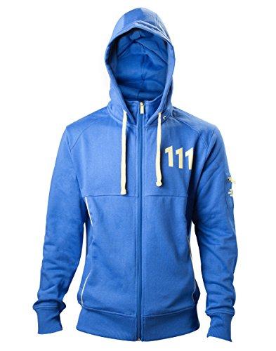 Fallout 4 Hoodie -XL- Vault 111, blau