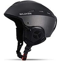 Huntvp Casco de Esquí (Ski Helmet) Profesional A Prueba de Viento para Adultos con Forro Casco Deportivo Ligero con 16 Respiraderos Negro M
