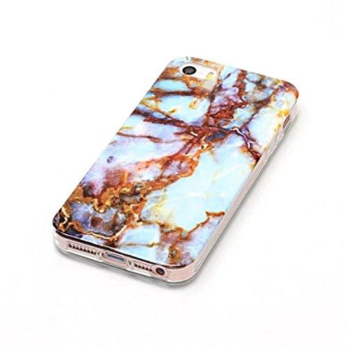 HUANGTAOLI Custodia in Silicone TPU Case Cover per Apple iPhone 5 5S SE C11