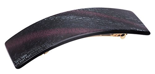 Galaxy Jet: France Luxe Large Rectangle Barrette - Galaxy Jet