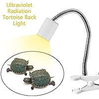 Gugutogo Soporte de luz de Lámpara UVB UV de luz de Rotación de 360Grados para la Tortuga (Color Blanco)