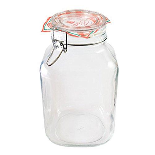 Bormioli #203390# Einmachglas mit Bügelverschluss, Original Fido, 2 L