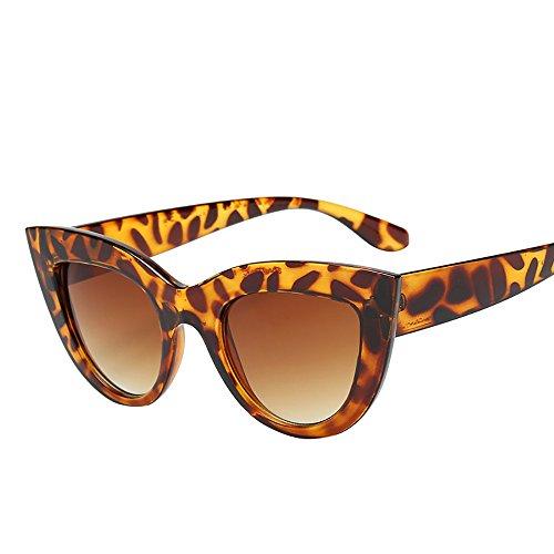Fuibo❤Vintage Cat Eye Retro Lunettes De Soleil Hommes Femmes carré Vintage  en Miroir Lunettes 98240f0b11a0