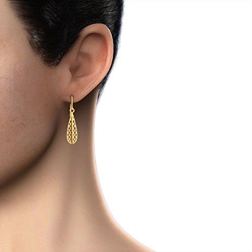 CaratLane 18k Yellow Gold Drop Earrings