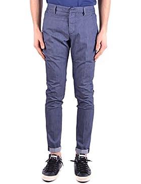 Dondup Hombre MCBI100125O Azul Algodon Pantalón
