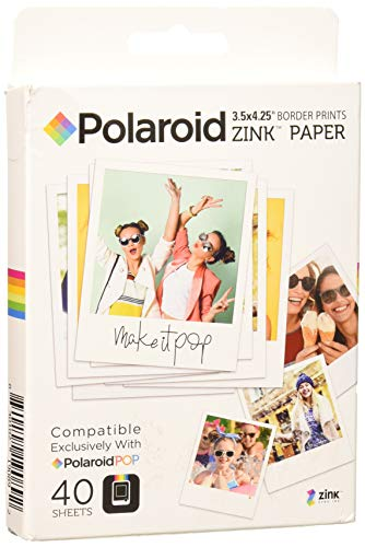 Polaroid Zink - Papiers Photos pour Polaroid Pop 2.0, 40 Feuilles