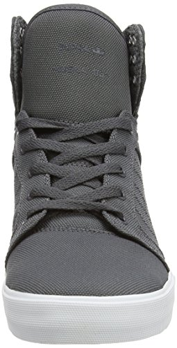Supra  SKYTOP, Baskets hautes mixte adulte Gris (Charcoal/White)