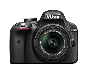 Nikon D3300 24.2 MP Digital SLR Camera (Black) with 18-55mm VR II Lens Kit with 4GB Card and Camera Bag
