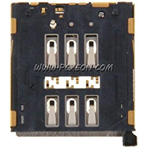 Goliton? Tarjeta SIM Holder Reader Slot Conector Tarjeta SIM Socket pieza de recambio para el iPhone 6S 4,7 pulgadas