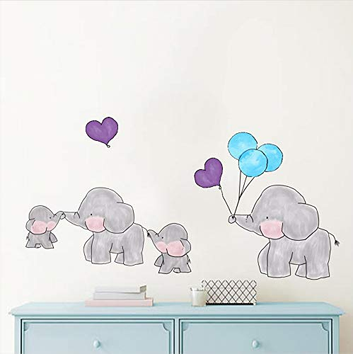 Wuyyii Cartoon Forest Animal Elephant Color Wall Stickers For Kids Rooms Colorful Dots Vinyl Wall Art Decals Diy Child Gifts Home Decor