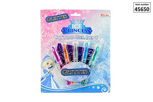 Tattoostifte Glitzer Eisprinzessin, Ice Princess, Eis Prinzessin, Tattoo Pen, Tattoo Gel Pens, Gelstifte