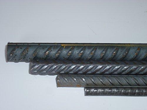 B&T Metall 26 Meter Betonstahl Ø8 mm Moniereisen Rundstahl Baustahl Bewehrungsstahl in Längen à 2000 mm +0/-3 mm