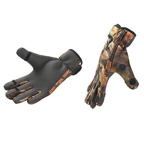 Fahrradhandschuhe Handschuhe Winddicht Wasserdicht für Winter Radfahren und Outdoor Sports Herren und Damen Tarnung M