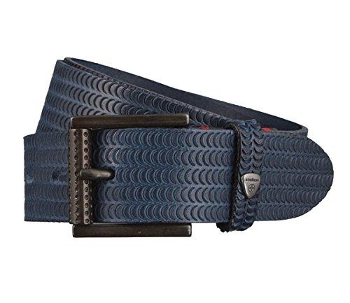Strellson Gürtel Herrengürtel Rindleder Ledergürtel Blau 2910, Länge:110 cm, Farbe:Blau