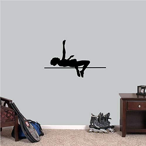Leichtathletik Laufen Kinderzimmer Wasserdichte Wandaufkleber Steuern Dekor Wohnzimmer Wohnzimmer Entfernbarer Hintergrund Wandkunst Aufkleber 66x42 cm