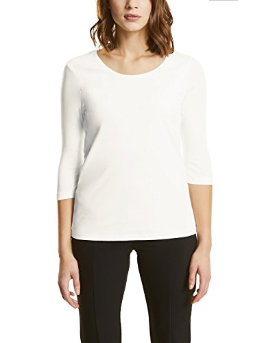 Street One Damen Langarmshirt 311693 Pania, Weiß (Off White 10108), 40 (3/4 T-shirt Arm)