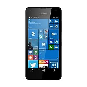 Microsoft Lumia 550 Smartphone LTE, Display 4.7' Pollici HD LCD (1280x720), 8 GB Memoria interna, Processore Quad Core Snapdragon 210, Nero [Italia] (Ricondizionato Certificato)