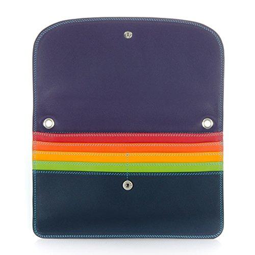 Mywalit portafoglio in pelle, stile 1201-Borsa da viaggio Multicolore (Nero (Black Pace))
