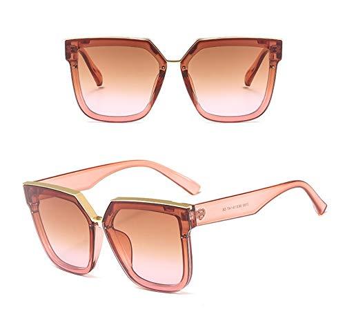WSKPE Sonnenbrille,Sonnenbrille Frauen Männer Sonnenbrillen Fashion Square Brillen Kunststoffrahmen Klare Linse Uv400 Dunkel Rosa Rahmen Rosa Linse 1 Pcs