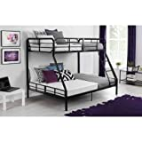 Mainstays Twin Over Full Bunk Bed, Sturdy Metal Frame and Secured Front Ladder by Mainstays