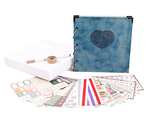FaCraft, album per scrapbooking, 20,3 x 20,3 cm 8x8inch,with Love