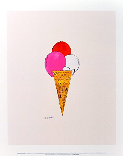 Andy Warhol Ice Cream Dessert c.1959 (red pink white) Poster Kunstdruck Bild 36x28cm - Germanposters (Andy Warhol Ice Cream)