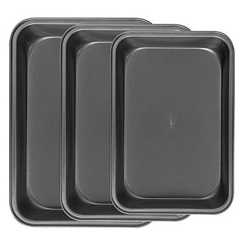 A+Selected Backblech-Set, antihaftbeschichtet, Karbonstahl-Bräter – 3 Stück Kochtöpfe für Ofen