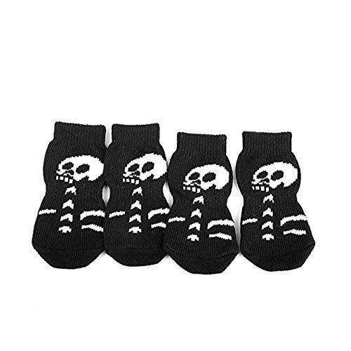 Fliyeong Premium Qualität 4 Stück kreatives Totenkopf-Design Haustier - Leben Größe Skelett Halloween