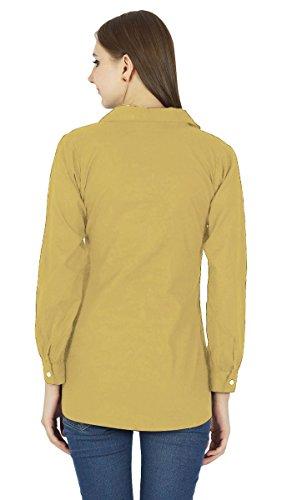Chemise À Manches Longues En Coton Kurta Haut Vêtements Pour Brun clair