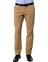 RENÉ LEZARD Herren Hose Baumwolle Pant Unifarben, Größe: 102, Farbe: Beige