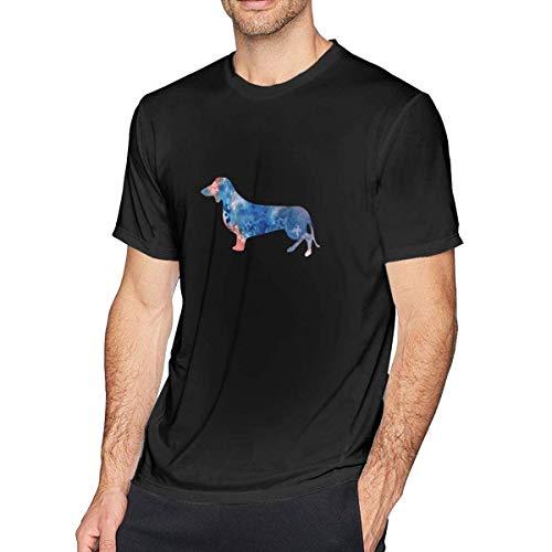 Wiener Dog T-shirt (Daschund Watercolor Wiener Dog T-Shirt Männer Oansatz T-Shirts Baumwolle Top 3XL)