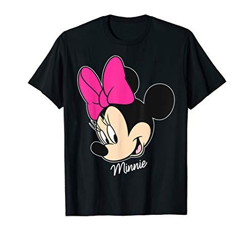 Disney Minnie Mouse Face Portrait Smile Graphic T-Shirt
