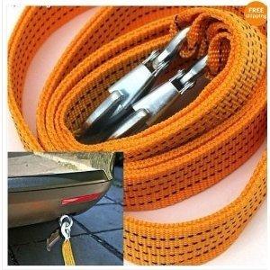 Zone Tech 3tonnes de voiture de remorquage câble de remorquage Sangle Corde avec crochets d'urgence Heavy Duty 10Pieds