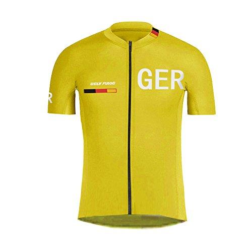 Uglyfrog Männer Radtrikot Anzug Quick Dry Kurzarm Fahrrad Jersey