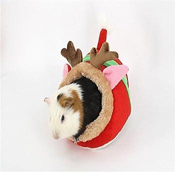 Miyare Lit Nid Animaux Naissant avec Rideaux en Velours Côtelé Flanelle pour Chats Chiens Cochon Néerlandais Hamster (L, Faon)