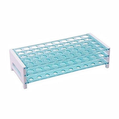 Bella Gefäßständer Reagenzglasständer Plastik Reagenzglasgestell Reagenzglashalter Pipettenständer 50 Löcher 13mm für Schule und Labortest