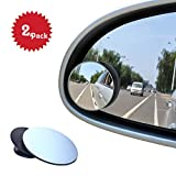 Blind Spot Mirrors, Beeway® Round Frameless 360° Rotate Sway Adjustable HD Glass Convex