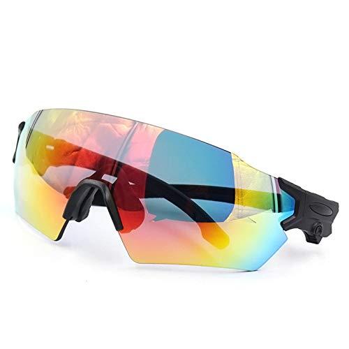 AmDxD TPU+PC Fahrradbrille Brillenträger Motorradbrillen Schutzbrillen für Motorrad Fahrrad Helmkompatible, Schwarz