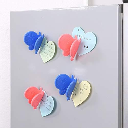 Anti Heiß Platte Clip 2Pcs Silicone Butterfly Gloves Hot Dish Bowl Anti-Scalding Clip Magnetic Refrigerator Clip (Random Color) -
