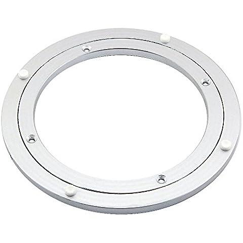 Rodamientos de mesa giratoria de aluminio Lazy Susan para mesa de cenar, 250 mm