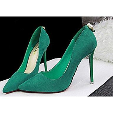 Moda Donna Sandali Sexy donna tacchi tacchi Estate Felpa casual Stiletto Heel altri nero / verde / Argento / Grigio / Fucsia Altri Silver